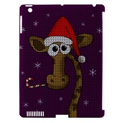 Christmas Giraffe  Apple Ipad 3/4 Hardshell Case (compatible With Smart Cover) by Valentinaart