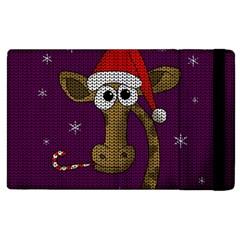 Christmas Giraffe  Apple Ipad 2 Flip Case by Valentinaart