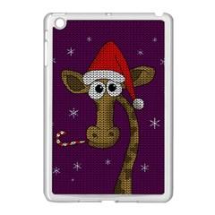 Christmas Giraffe  Apple Ipad Mini Case (white) by Valentinaart