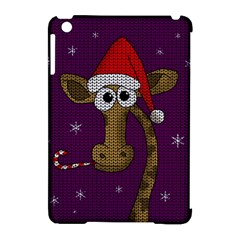 Christmas Giraffe  Apple Ipad Mini Hardshell Case (compatible With Smart Cover) by Valentinaart