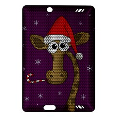 Christmas Giraffe  Amazon Kindle Fire Hd (2013) Hardshell Case by Valentinaart