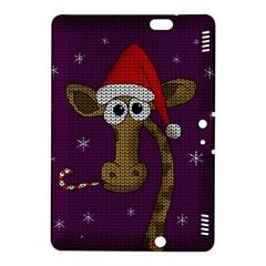 Christmas Giraffe  Kindle Fire Hdx 8 9  Hardshell Case by Valentinaart