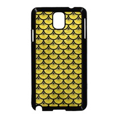 Scales3 Black Marble & Yellow Leather Samsung Galaxy Note 3 Neo Hardshell Case (black)