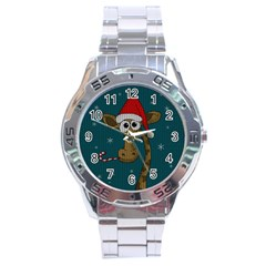 Christmas Giraffe  Stainless Steel Analogue Watch by Valentinaart