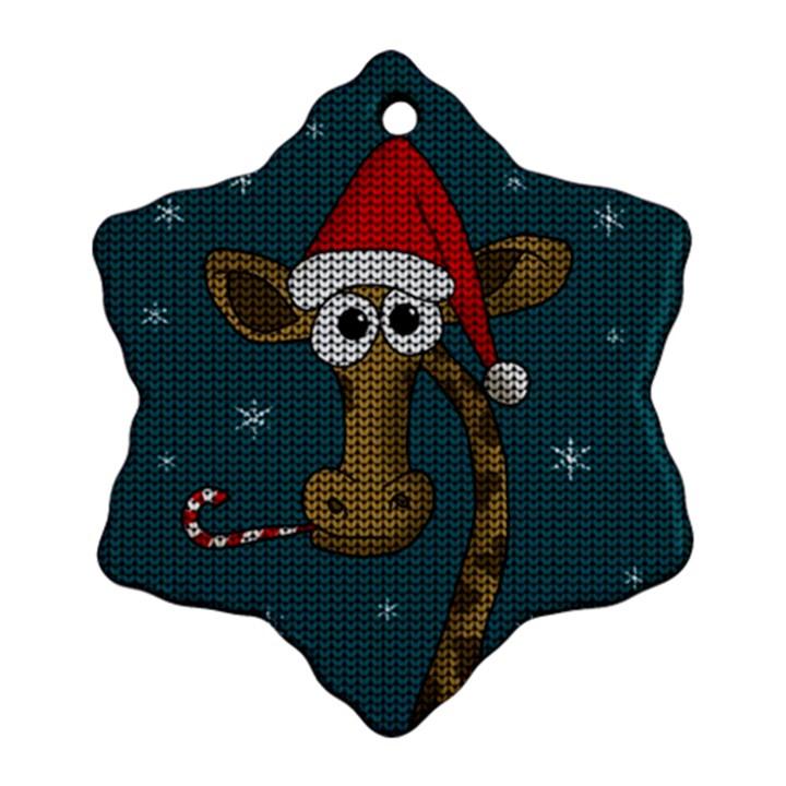 Christmas Giraffe  Ornament (Snowflake)
