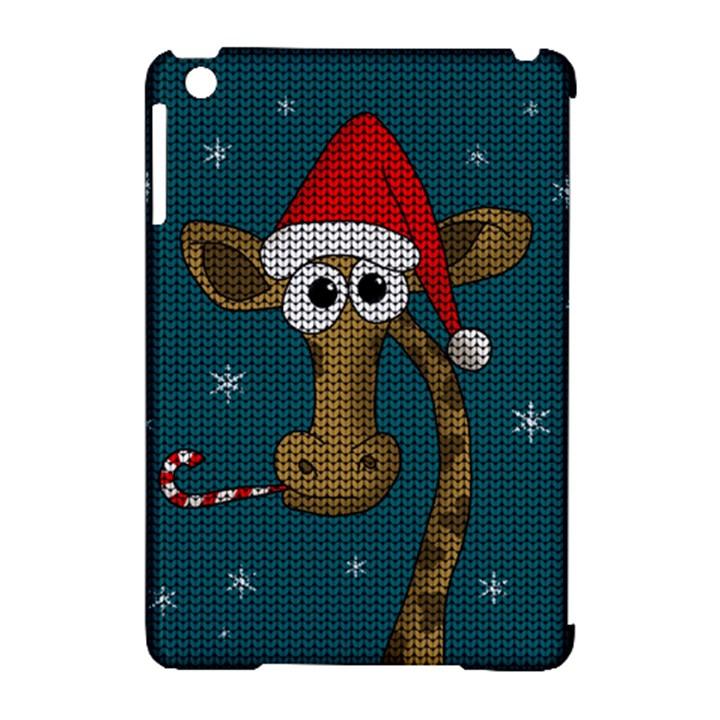 Christmas Giraffe  Apple iPad Mini Hardshell Case (Compatible with Smart Cover)