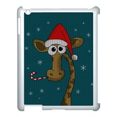 Christmas Giraffe  Apple Ipad 3/4 Case (white) by Valentinaart