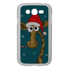 Christmas Giraffe  Samsung Galaxy Grand Duos I9082 Case (white) by Valentinaart