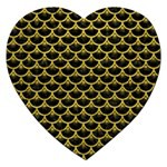 SCALES3 BLACK MARBLE & YELLOW LEATHER (R) Jigsaw Puzzle (Heart) Front