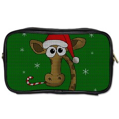 Christmas Giraffe  Toiletries Bags by Valentinaart