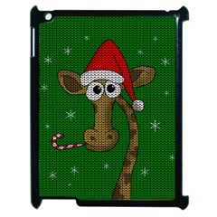 Christmas Giraffe  Apple Ipad 2 Case (black) by Valentinaart
