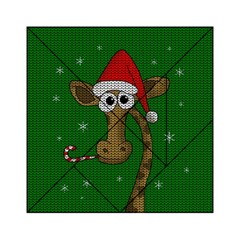 Christmas Giraffe  Acrylic Tangram Puzzle (6  X 6 ) by Valentinaart
