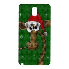 Christmas Giraffe  Samsung Galaxy Note 3 N9005 Hardshell Back Case by Valentinaart