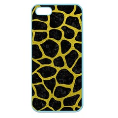 Skin1 Black Marble & Yellow Leather Apple Seamless Iphone 5 Case (color)