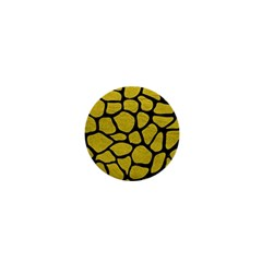 Skin1 Black Marble & Yellow Leather (r) 1  Mini Magnets by trendistuff