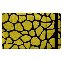 Skin1 Black Marble & Yellow Leather (r) Apple Ipad 3/4 Flip Case by trendistuff