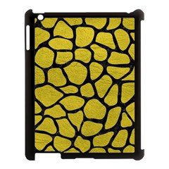Skin1 Black Marble & Yellow Leather (r) Apple Ipad 3/4 Case (black) by trendistuff