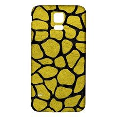 Skin1 Black Marble & Yellow Leather (r) Samsung Galaxy S5 Back Case (white) by trendistuff