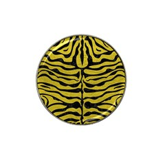 Skin2 Black Marble & Yellow Leather Hat Clip Ball Marker (10 Pack) by trendistuff