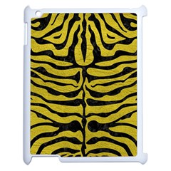 Skin2 Black Marble & Yellow Leather Apple Ipad 2 Case (white) by trendistuff
