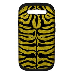 Skin2 Black Marble & Yellow Leather Samsung Galaxy S Iii Hardshell Case (pc+silicone) by trendistuff
