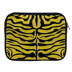 Skin2 Black Marble & Yellow Leather Apple Ipad 2/3/4 Zipper Cases by trendistuff