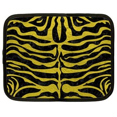 Skin2 Black Marble & Yellow Leather (r) Netbook Case (xxl)