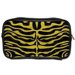Skin2 Black Marble & Yellow Leather (r) Toiletries Bags 2 Side by trendistuff