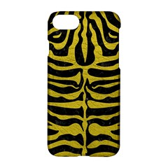 Skin2 Black Marble & Yellow Leather (r) Apple Iphone 7 Hardshell Case