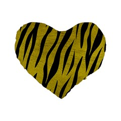 Skin3 Black Marble & Yellow Leather Standard 16  Premium Heart Shape Cushions by trendistuff