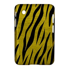 Skin3 Black Marble & Yellow Leather Samsung Galaxy Tab 2 (7 ) P3100 Hardshell Case