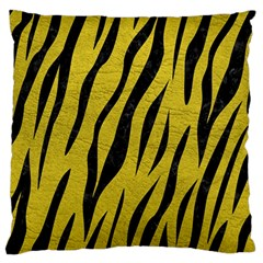 Skin3 Black Marble & Yellow Leather Standard Flano Cushion Case (one Side) by trendistuff