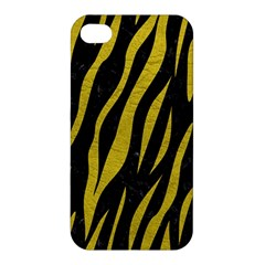 Skin3 Black Marble & Yellow Leather (r) Apple Iphone 4/4s Premium Hardshell Case by trendistuff