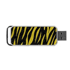 Skin3 Black Marble & Yellow Leather (r) Portable Usb Flash (two Sides) by trendistuff