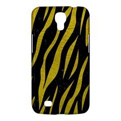 Skin3 Black Marble & Yellow Leather (r) Samsung Galaxy Mega 6 3  I9200 Hardshell Case