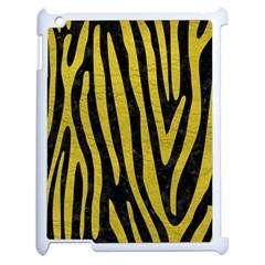 Skin4 Black Marble & Yellow Leather Apple Ipad 2 Case (white) by trendistuff