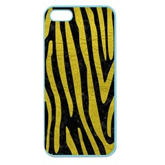Skin4 Black Marble & Yellow Leather Apple Seamless Iphone 5 Case (color)