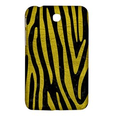 Skin4 Black Marble & Yellow Leather Samsung Galaxy Tab 3 (7 ) P3200 Hardshell Case  by trendistuff