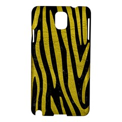 Skin4 Black Marble & Yellow Leather Samsung Galaxy Note 3 N9005 Hardshell Case