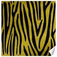 Skin4 Black Marble & Yellow Leather (r) Canvas 20  X 20   by trendistuff