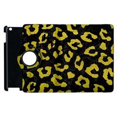 Skin5 Black Marble & Yellow Leather Apple Ipad 3/4 Flip 360 Case by trendistuff