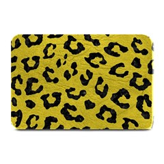 Skin5 Black Marble & Yellow Leather (r) Plate Mats by trendistuff