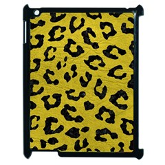Skin5 Black Marble & Yellow Leather (r) Apple Ipad 2 Case (black) by trendistuff