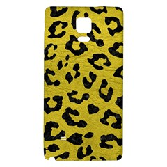 Skin5 Black Marble & Yellow Leather (r) Galaxy Note 4 Back Case by trendistuff