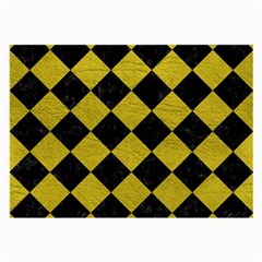 Square2 Black Marble & Yellow Leather Large Glasses Cloth