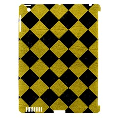 Square2 Black Marble & Yellow Leather Apple Ipad 3/4 Hardshell Case (compatible With Smart Cover) by trendistuff