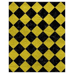 Square2 Black Marble & Yellow Leather Drawstring Bag (small) by trendistuff