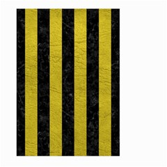 Stripes1 Black Marble & Yellow Leather Large Garden Flag (two Sides) by trendistuff