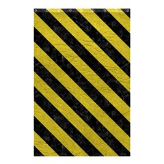Stripes3 Black Marble & Yellow Leather Shower Curtain 48  X 72  (small)  by trendistuff