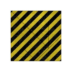 Stripes3 Black Marble & Yellow Leather (r) Acrylic Tangram Puzzle (4  X 4 ) by trendistuff